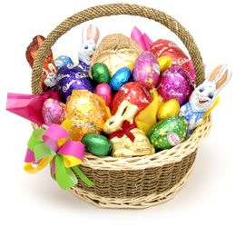 Easter Basket Ideas for MEN!Easter Candies, Easter Bunnies, Easter Eggs, Easter Time, Chocolates Candies, Easter Baskets, Bunnies Time, Candies Food, Baskets Ideas