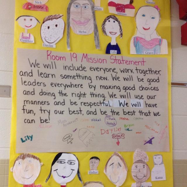 Classroom mission statements