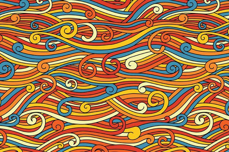 Waves pattern by Maria Galybina on @creativemarket