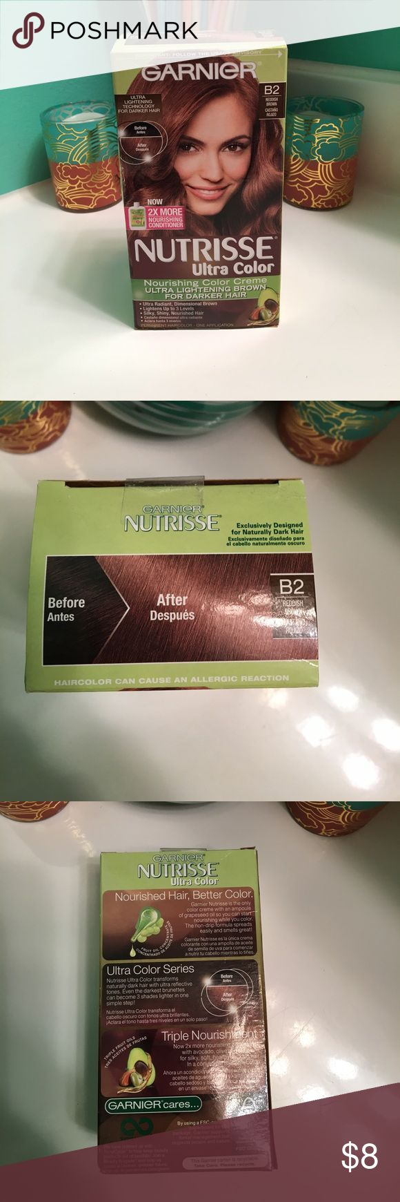 NIB Garnier Nutrisse Ultra Color B2 Reddish Brown New in box. Nothing wrong with  at at all.  I just decided to go with a lighter color. Garnier Other