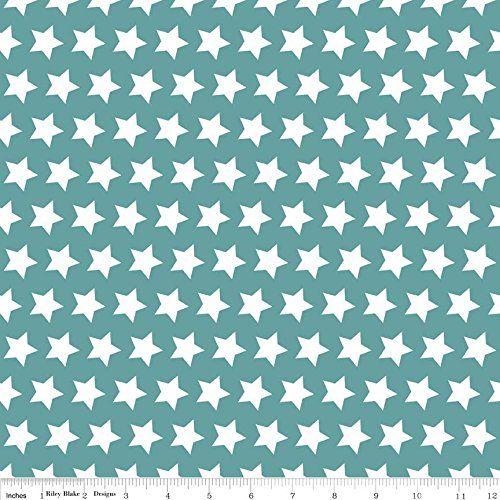 STAR FABRIC Stars on Teal Blue Fabric RBF477 - 0.5 Metres... https://www.amazon.co.uk/dp/B00TFWGERW/ref=cm_sw_r_pi_dp_x_dYNJybMPDBH69