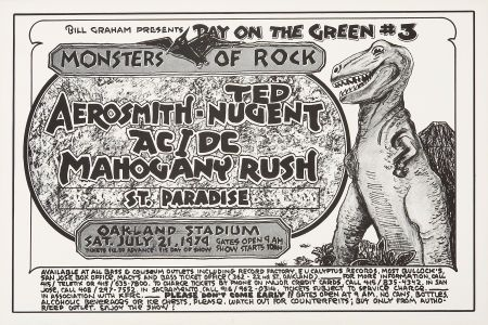 Monsters of rock concert posters | Day On the Green Monsters of Rock Oakland Stadium ConcertPoster (Bill ...