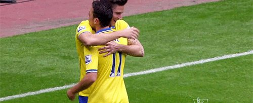 Keep spreading the love, Giroud. | 15 Times Olivier Giroud Loved Hugs More Than Anything- This is hilarious and adorable!