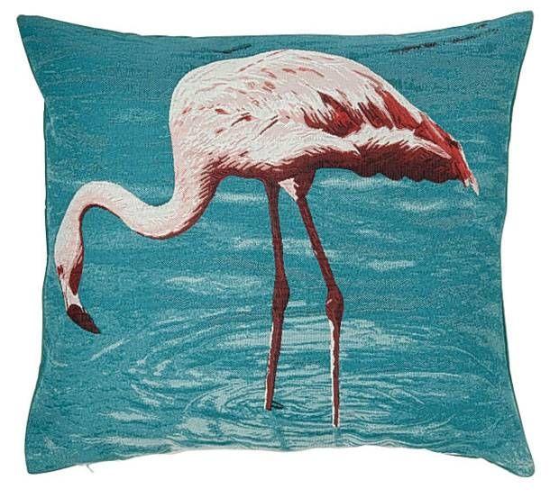 Embroidered flamingo cushion, £29.50, from Marks & Spencer (marksandspencer - London Evening Standard