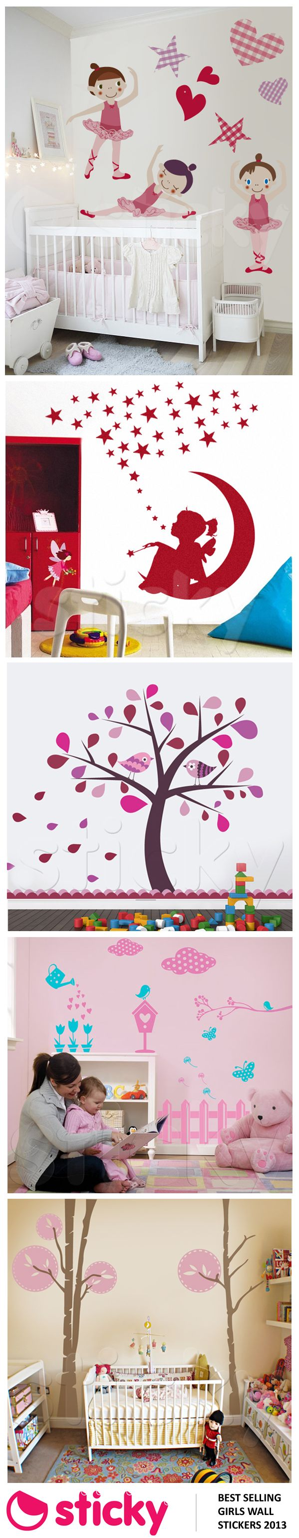 STICKY - Our best selling girl's room wall stickers for 2013 based on sales!
