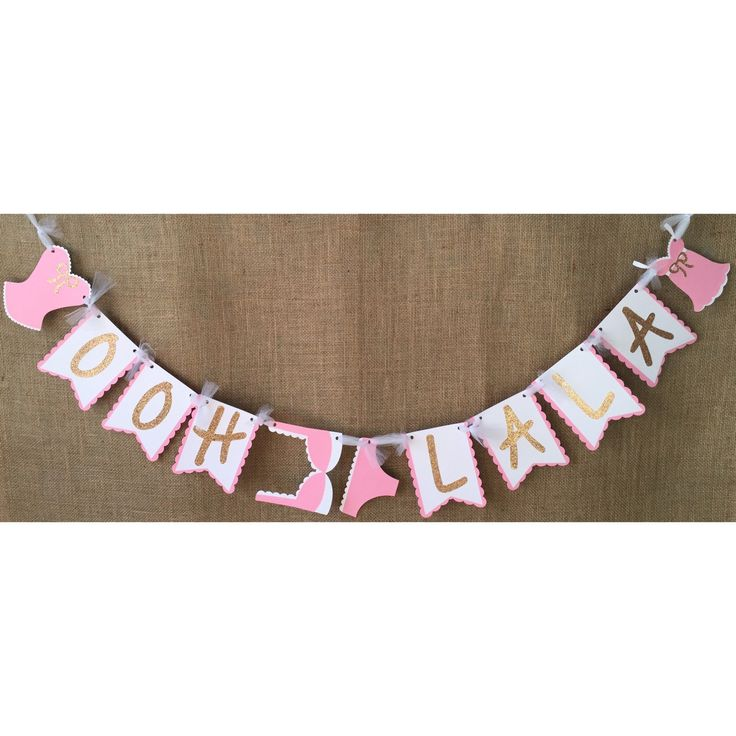 ooh la la banner, lingerie banner, ooh la la, lingerie party, lingerie party decorations, lingerie shower, lingerie shower decor, bra banner