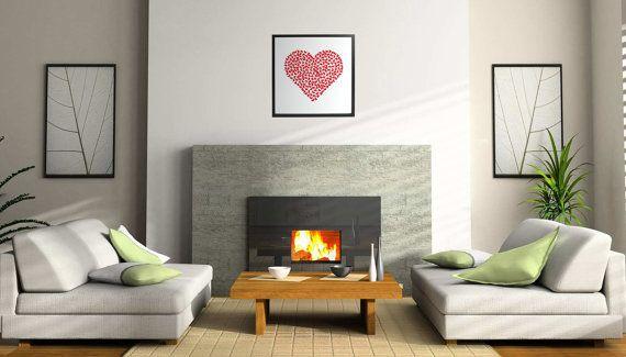 Butterfly 3D red heart on glow in the dark by CreativityWings