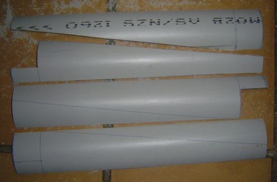 Shaping PVC Pipe for windmill blades