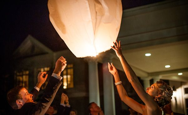 Chinese Lanterns at Country Club of Charleston // Exit ideas // Amy-Marie Kay Photography //Charleston SC Wedding Photography