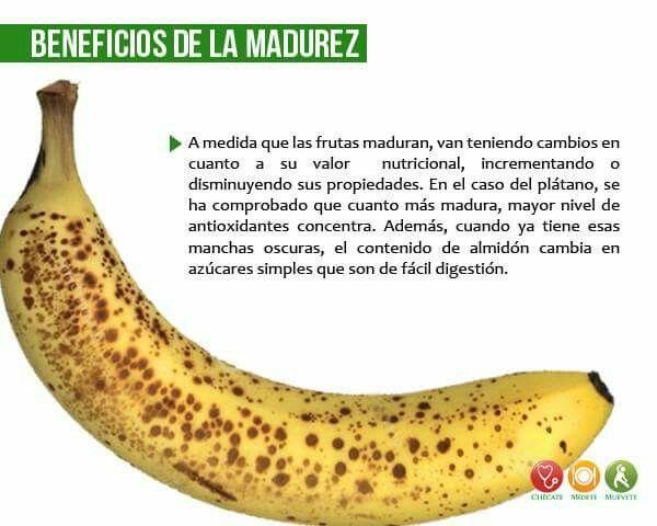 Beneficios de la madurez del banano.