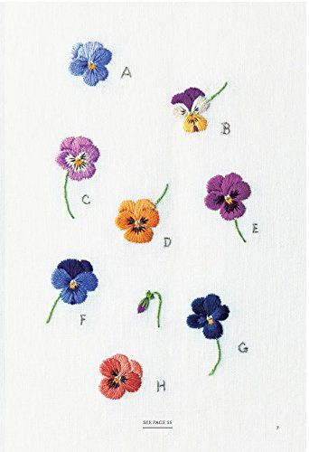 embroidered garden flowers botanical motifs for needle and thread