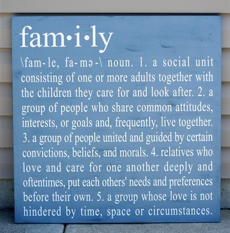 Fam*I*ly...this definition image would make a great opening page for a heritage scrapbook layout.