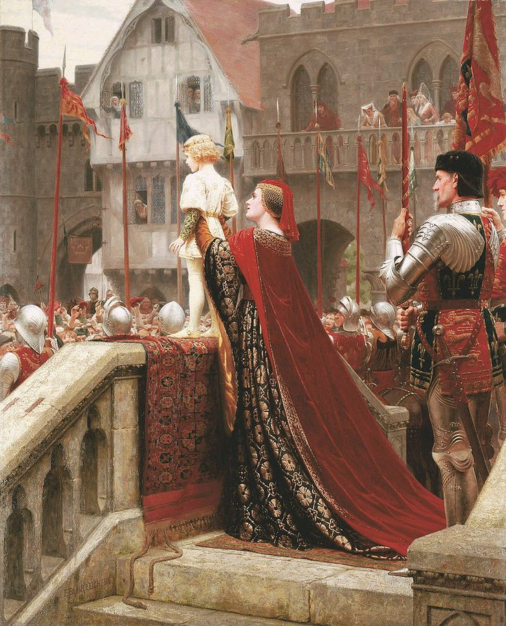 """Edmund Blair Leighton """"A Little Prince Likely in Time to Bless a Royal Throne"""""""