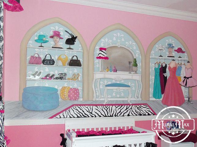 60 best murals for girls images on pinterest wall murals. Black Bedroom Furniture Sets. Home Design Ideas