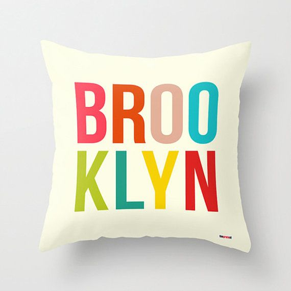 Brooklyn Decorative throw pillow cover  New York by thegretest