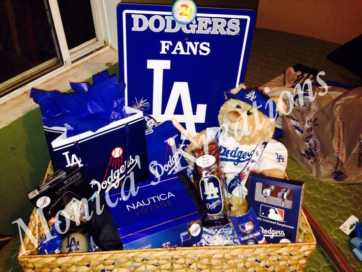 Dodgers Themed Gift Basket Mk ️ Pinterest Gifts