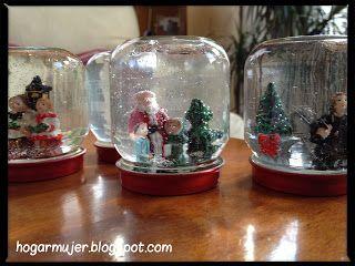 #DIY: Globos de nieve navideños #christmas #navidad #manualidades