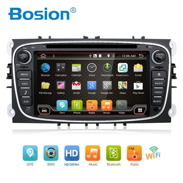 New Price $233.00, Buy Quad Core 2din Android 6.0 Car DVD for Ford Mondeo C-max S max with English Wifi 3G GPS Bluetooth Radio touch screen wifi 3G