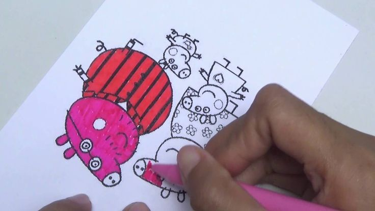 Peppa Pig Coloring Book Episode Family Video For Kids