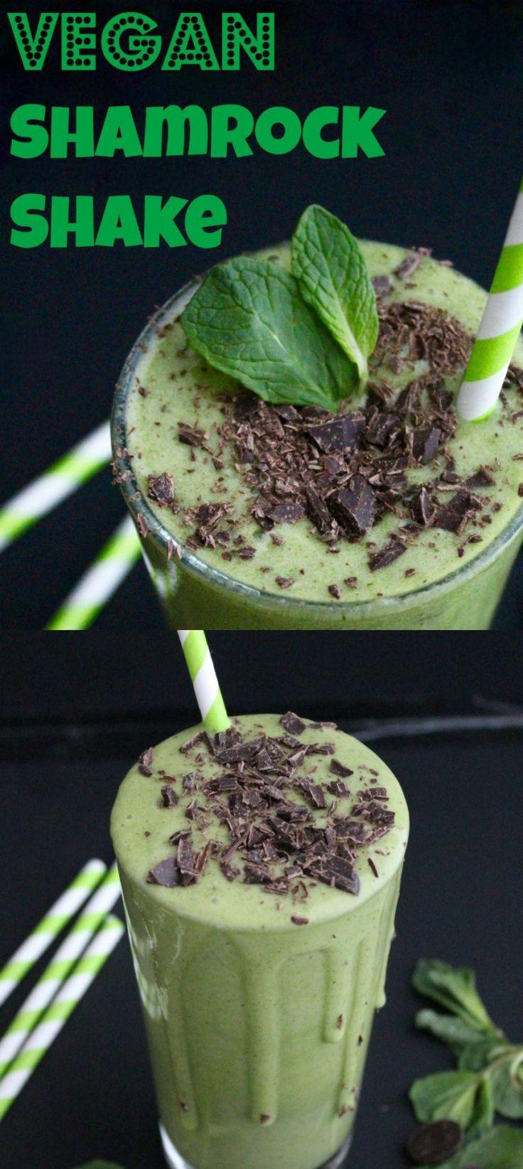 Vegan Shamrock Shake! Naturally sweetened and nothing fake! So healthy!