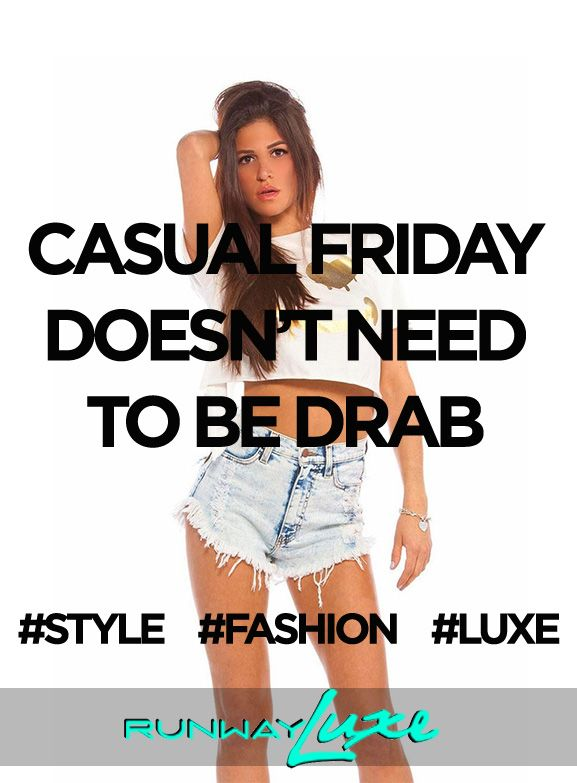 "~ DEAL OF THE DAY ~ FRIDAY/AUGUST/15/2014 - Get ready for the weekend!! Use promo code ""RWAYLUXE14"" FOR 25% off todays purchases. Valid until midnight. www.runwayluxe.com #shop #weekendstyle #fashion #dealoftheday #style #casualfriday #luxe"