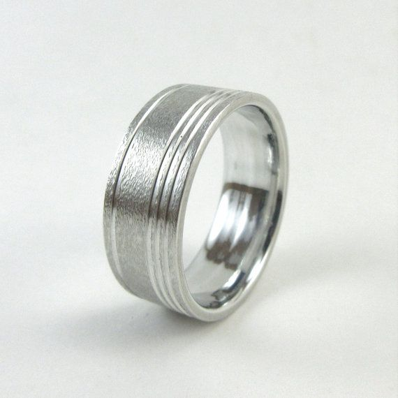 Hey, I found this really awesome Etsy listing at https://www.etsy.com/au/listing/486184147/matte-aluminum-ring-accent-grooved-ring