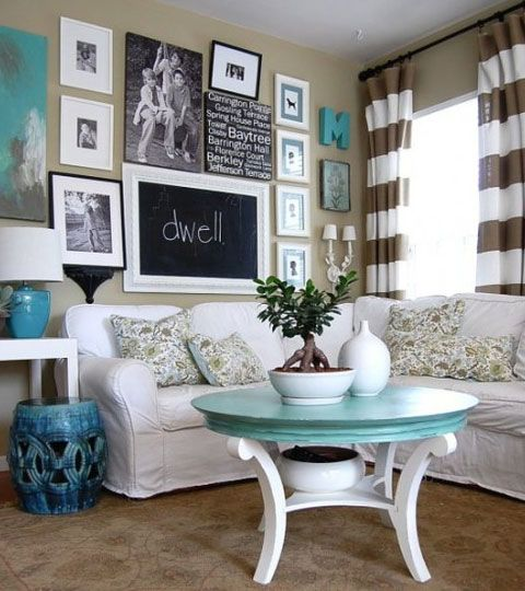 Click Pic for 24 Living Room Decorating Ideas | Clusters of Pictures | Living Room Ideas