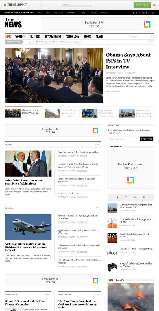 TrueNews WordPress Theme - Theme Junkie