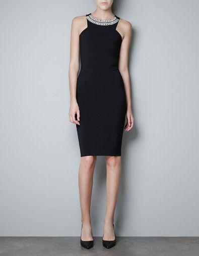 FANTASY NECK DRESS - Dresses - Woman - ZARA