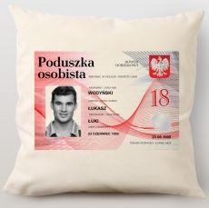 Poduszka personalizowana DOWÓD idealny na urodziny