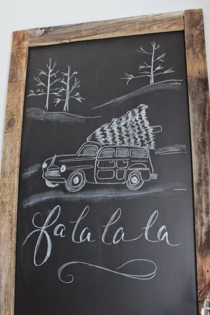 Chalkboard sign. You could use also chalkboard paint over an old mirror. Antique shops are loaded.