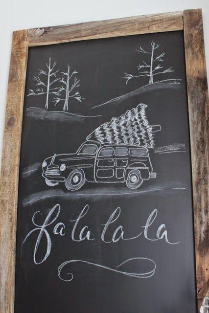 Chalkboard noel