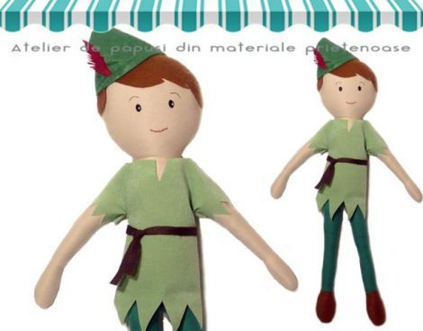 Papusa Peter Pan 55cm - Pravalia cu Papusi