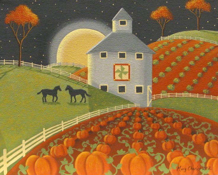 """Autumn Farm""  by Mary Charles  starlitestudios.blogspot.com"