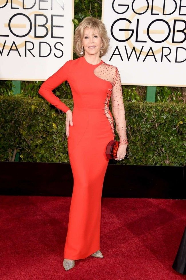 Golden Globes 2015: what they're wearing: Jane Fonda in Versace