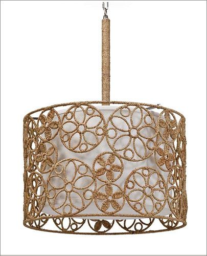 Regina Andrew Modern Floral Woven Rattan Pendent: Regina Andrew Design  Redefines Contemporary Style. With