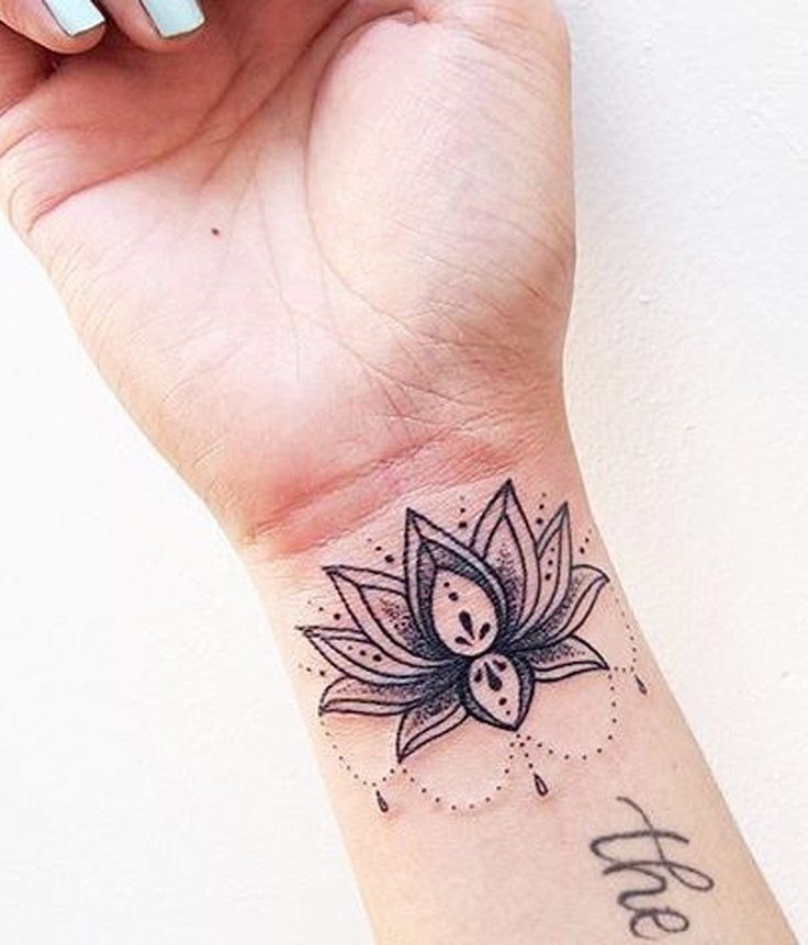 Small Wrist Lotus Flower Tattoo Designs: Best 45 Lotus Flower Tattoo Ideas For Women Images On