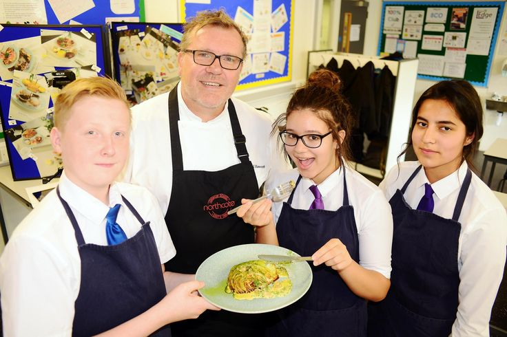 Celebrity chefs serves up cooking masterclass to kids  ||     Chef Nigel Haworth, visits Witton Park Academy, Blackburn to give a cooking workshop to pupils.  http://www.lancashiretelegraph.co.uk/news/15551463.Celebrity_chefs_serves_up_cooking_masterclass_to_kids/?utm_campaign=crowdfire&utm_content=crowdfire&utm_medium=social&utm_source=pinterest
