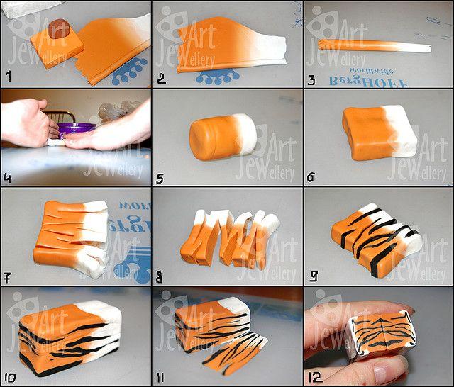Svetlana Mednaya's Flickr photo tutorial for a tiger cane