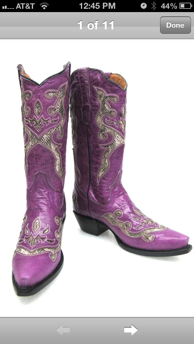 Purple Cowboy boots I'd love to have!!