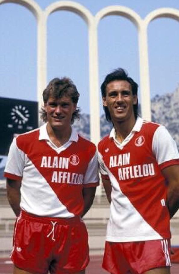 Glenn Hoodle and Mark Hateley of AS Monaco in 1987.