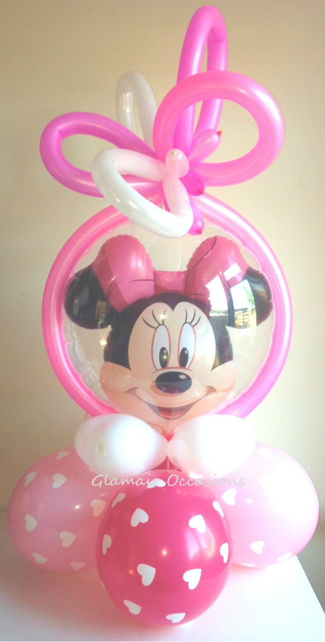 Double Bubble Minnie Mouse Pink Girls Princess Hearts Themed