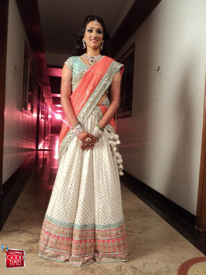 Sabyasachi introduces soft pastels in Bridal lehengas too