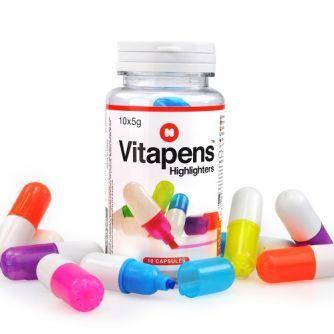 Zvýrazňovače ve tvaru kapsle Vitapens