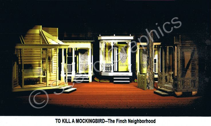 What is the setting in Chapter 1 of To Kill a Mockingbird?