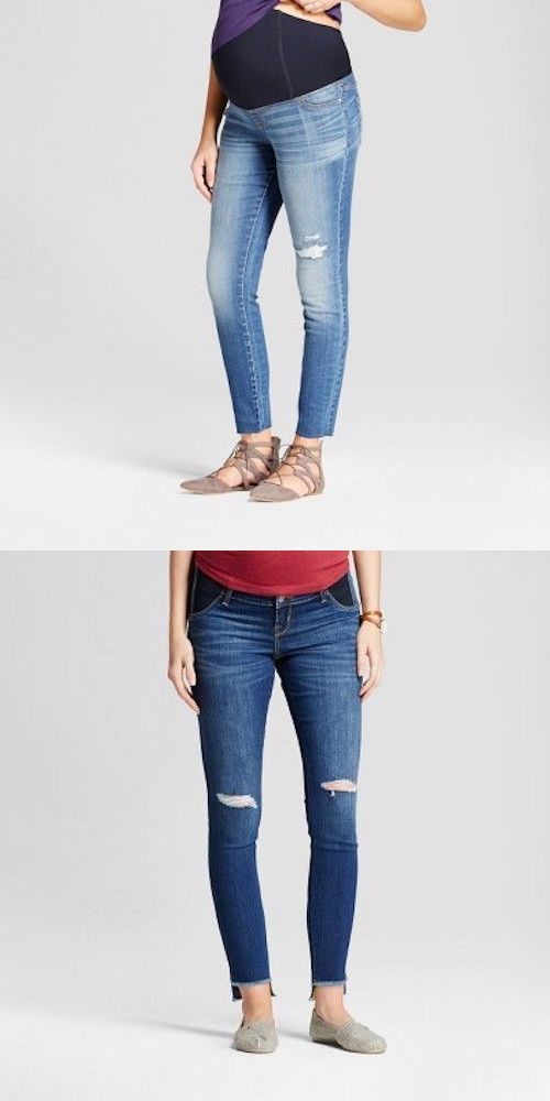 c10102390733a Jeans 11535: Ingrid And Isabel Maternity Denim Stretch Jeggings Skinny 6 12  18 Medium Wash Nw -> BUY IT NOW ONLY: $13 on #eBay #jeans #i…