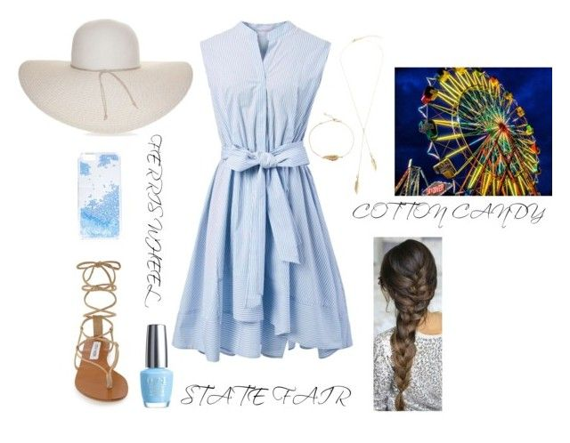 """""""State Fair Outfit."""" by crown-and-feathers on Polyvore featuring Nine West, Chicwish, Steve Madden, Skinnydip and OPI"""