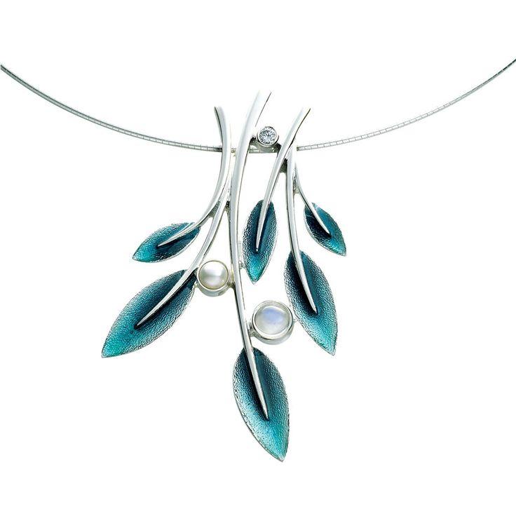 Rowan - Necklet http://www.sheilafleet.com/collections/rowan/esnxx157/  #enamel #jewellery #sheilafleet