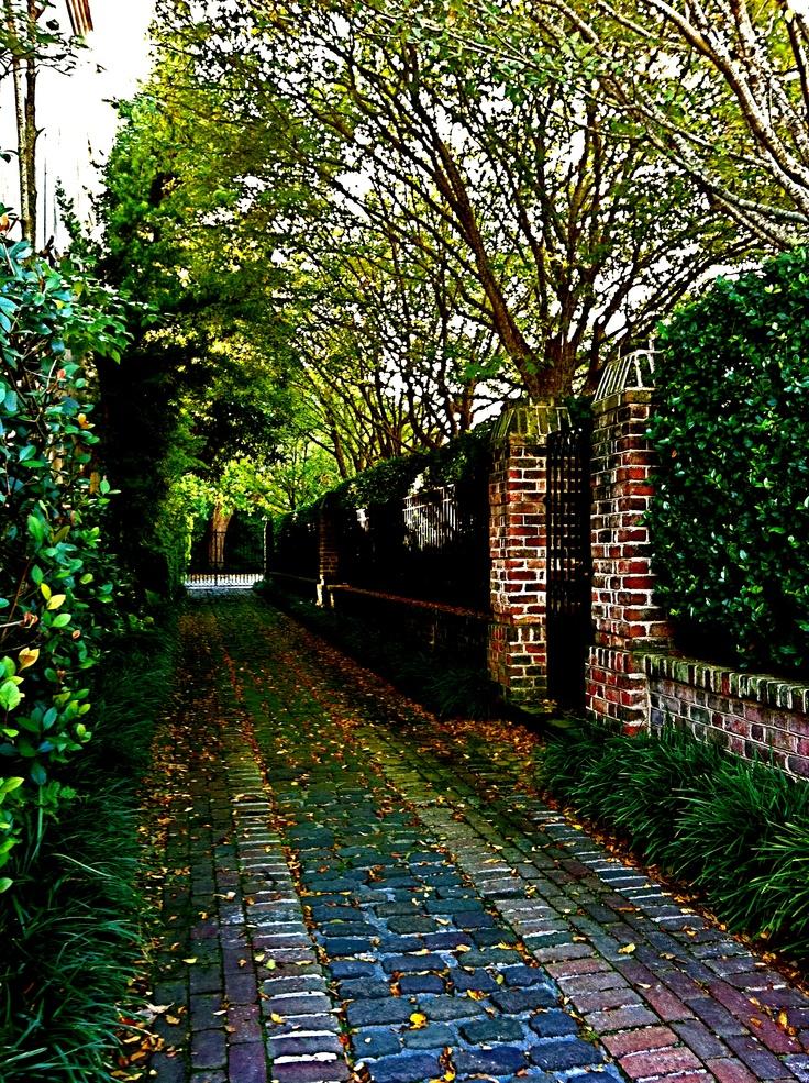A Long Brick Driveway