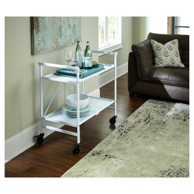 Indoor - Outdoor Folding Serving Cart - White - Cosco
